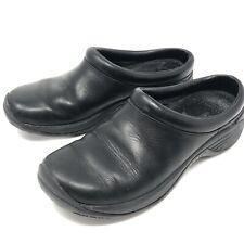 MERRELL Women's 5.5 EUR 36 Encore Nova Smooth Black Leather Slip On Clog Shoe