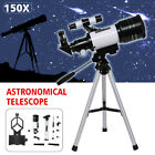 70mm 150X Professional Outdoor Astronomical Telescope w/Tripod Phone Holder USA