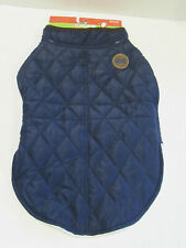 Navy Blue Quilted Pet Jacket (LG) (Home for the Holidays) .Large