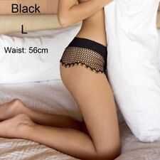 Sexy Lingerie Breathable Fishnet Lace Brief Transparent Underwear G-string Women