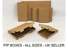 More details for large letter box royal mail pip boxes c4, c5, c6 dl card board postal mailing