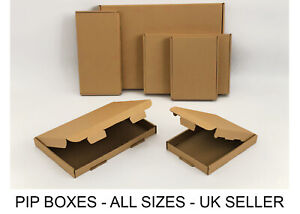 Large Letter box Royal Mail PIP Boxes C4, C5, C6 DL Card board Postal Mailing