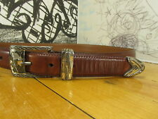 PGA Tour by Danbury Accessories Brown Leather Belt Size 34 #2640500