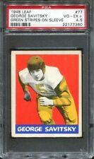 1948 Leaf #77 George Savitsky PSA 4.5 Philadelphia Eagles