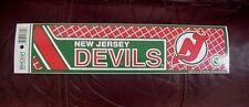 OLD LOGO NJ NEW JERSEY DEVILS NHL BUMPER STICKER UNSOLD STOCK
