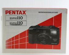 Bedienungsanleitung Pentax ESPIO110 ESPIO-110 ESPIO 100 Anleitung