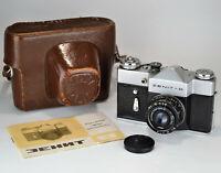 "NEAR EXC! RUSSIAN USSR ""ZENIT-B"" SLR CAMERA + INDUSTAR-50-2 lens, f3.5/50mm"