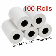 """100 Rolls 2 1/4"""" x 50' Thermal Paper Pos Printers of Sale Retail Free Shipping"""