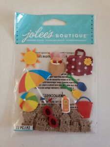 Jolees Boutique Fun at the Beach scrapbooking stickers