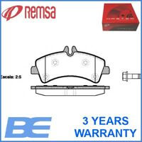 Mercedes-Benz Vw Rear DISC BRAKE PAD SET OEM Heavy Duty Remsa 124700 2E0698451A