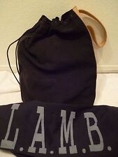 L.A.M.B. GWEN STEFANI Calli Weekend Tote Sling Backpack Bag Black Suede/leather