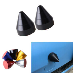 2x Black Universal Bump Protector Spike Guards For Car Front or Rear Bumpers