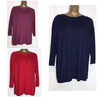 Ex Evans Fine Knit Tunic Top 3 Colours Sizes 14 - 30/32 New (e-18s)