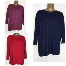 Ex Evans Fine Knit Tunic Top 3 Colours Sizes 14 - 30/32 New (e-18s)