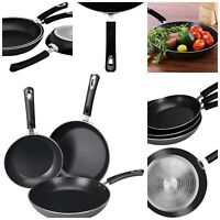 Nonstick Frying Pan Set Induction Bottom Kitchen Cookware Double Coated 3 Piece