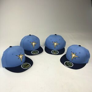New Era Cap 59Fifty Tampa Bay Rays Kids Blue Fitted MLB18 Authentic Collection