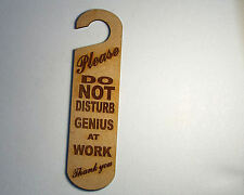 Do not disturb sign -Genious at work  #13