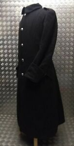 Genuine British Army Issue Melton Wool Greatcoat Long Coat Overdyed Black Goths