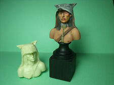 FIGURINE   BUSTE  CHEF  INDIEN   VROOM   A  PEINDRE  UNPAINTED  INDIAN  CHIEF