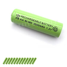 12pcs AA 3000mAH 1.2V Rechargeable Battery 2A Green Ni-MH