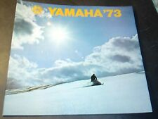 1973 LARGE YAMAHA SNOWMOBILE SALES BROCHURE NICE  (712)