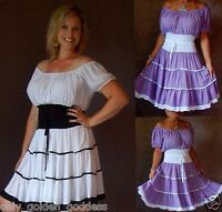 u pick color & size smocked sexy peasant top tunic dress mini art