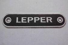 Typenschild Lepper schild sitzbank sattel s32