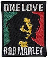 Bob Marley One Love Cosido En Paño Parche 100mm x 80mm ( Rz )
