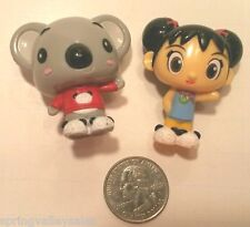 "2008 Viacom Nickelodeon Ni Hao Kai-Lan Girl Tolee Koala Mini 1.5"" Figures SET/2"