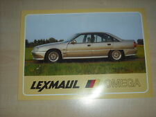 60935) Opel Omega A Lexmaul Prospekt 198?