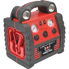 5-in-1 Portable Power Pack with Jump Start,Air Compressor,Power Inverter,USB Prt