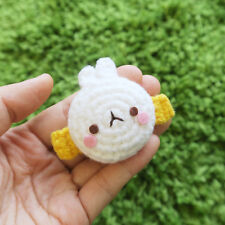Molang cute Hand made Hand-knitted Doll hair accessory hairpin collaboration