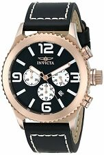 Invicta Men's 1429 Specialty Chronograph Black Dial Rose Gold-Plated Watch