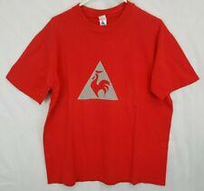 Vtg Le Coq Sportif Big Reflective Logo T Shirt sz L XL USA Made