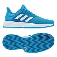 adidas Game Court Wide Men's Tennis Shoes Blue White Racket Racquet NWT CG6335