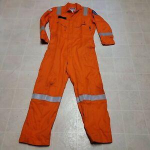 Men's Walls Flame FR Resistant Orange Coveralls Workwear Reflective Size 42 Reg