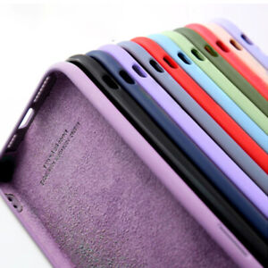 Liquid Silicone TPU Case Soft Cover For iPhone 12 Mini 11 Pro Max XS XR 8 7 6 SE