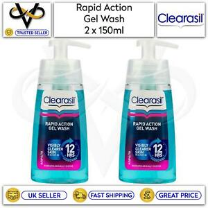 Clearasil Rapid Action Gel Wash 150ml Visibly Clearer Skin In 12 Hours Set Of 2