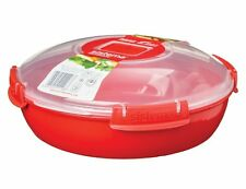 Round Microwave Dish Sistema Easy Use Home Kitchen Office Lunch Box Food Storage