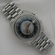 Omega Memomatic Alarm Automatic Date mens wristwatch steel case 40 mm. in diam.