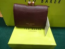NEW WITH BOX & TAGS TED BAKER SURI MAROON SMALL MATINEE PURSE