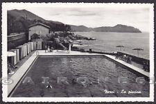 GENOVA CITTÀ 457 NERVI - PISCINA Cartolina FOTOGRAFICA viaggiata 1960