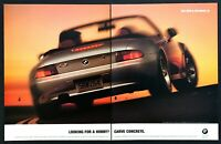 """1997 BMW 6-Cylinder Z3 Convertible photo """"Looking for a Hobby?"""" 2-page print ad"""