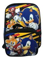 """Sonic The Hedgehog Boys 16"""" School Backpack With Lunch Box - 2 Piece Set"""