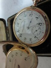 hampden wm mc kinley 17j vintage hunting case pocket watch