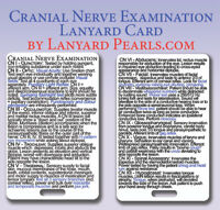 Cranial Nerve Examination - Medical + Nursing Lanyard Reference Badge Card