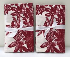 NEW Pottery Barn Matine Toile STANDARD Shams, SET OF 2, RED