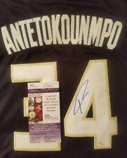 Giannis Antetokounmpo Signed (Bucks) Jersey Size XL in person. JSA CERTIFIED