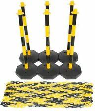 LifeGear Plastic Chain Post Set - Yellow, Black (6 Pack)