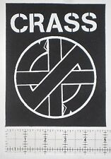 CRASS DIY Patch Amebix Anti Cimex Phobia Antisect Crust Punk Disrupt Doom Filth